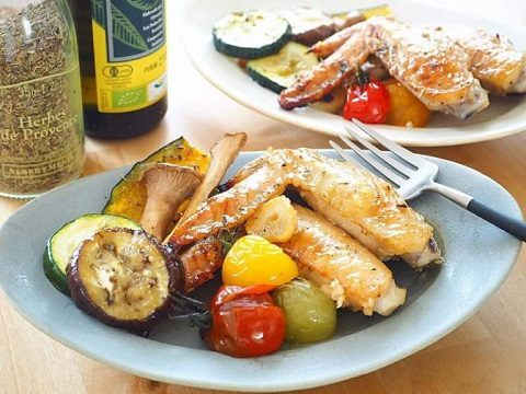 【季節のこころレシピvol.41】手羽先といろいろ野菜のオーブングリル焼き